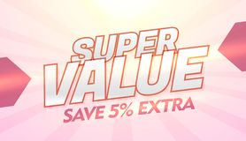 Super value promotional discount and offer banner template Stock Image