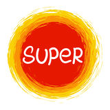 SUPER .Vector calligraphic inspirational design. Royalty Free Stock Photos