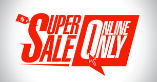 Super verkoop, online slechts stock illustratie
