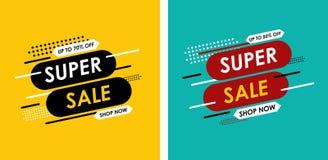 Super verkoop tot 70% van verkoop, mooi ontwerp Vector illustratie stock illustratie