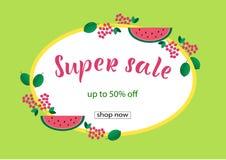 SUPER VERKOOP 50% VAN het Van letters voorzien ontwerp royalty-vrije stock afbeelding