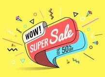 Super verkoop, vectorillustratie Royalty-vrije Stock Afbeelding
