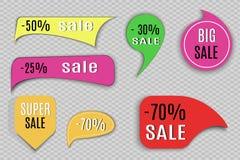 Super Verkoopdocument banner Concept voor marketing en elektronische handel Vector illustratie Royalty-vrije Stock Afbeeldingen