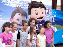 Super Victor, mascotte official of france 2016 Royalty Free Stock Image