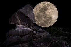 Super Volle maan Royalty-vrije Stock Afbeelding