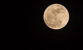 Super volle maan in nachthemel, Blauwe maan Royalty-vrije Stock Afbeeldingen