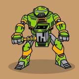Super War Robot. The Super War Robot Illustration Royalty Free Stock Photography