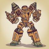 Super War Robot. The Super War Robot Illustration Stock Photography