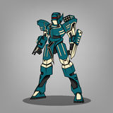 Super War Robot. Super soldier war robot future Royalty Free Stock Images