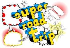 Super Wegreis - de Grappige uitdrukking van de boekstijl royalty-vrije illustratie