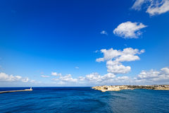 Super wide-angle of the port of Valletta, Grand Harbour.  Royalty Free Stock Photo