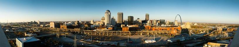 Super wide panoramatic shot of Saint Louis, MO Stock Photos
