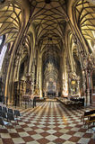 Super wide view inside of saint Stephen's cathedral at downtown of Vienna Royalty Free Stock Photography