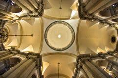 Super wide view inside San Giorgio Maggiore church in Venice Stock Photos