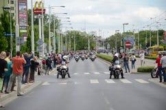Super wiec - Harley silnika parada Zdjęcia Stock