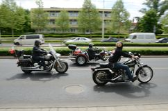 Super wiec - Harley silnika parada Obraz Stock