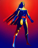 Super Woman. High quality, high resolution, digitally painted illustration stock illustration