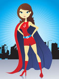 Super woman illustration Stock Photo