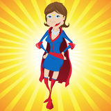 Super Woman Mother Cartoon Royalty Free Stock Image