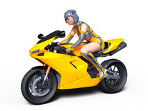 Super woman rider Royalty Free Stock Photos