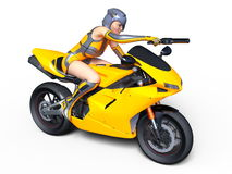 Super woman rider Stock Photo