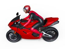 Super woman rider Stock Images