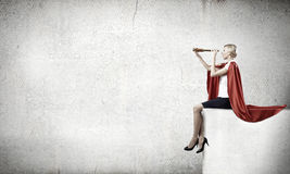 Super woman in search Royalty Free Stock Photos