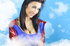 Super woman smiling Stock Image