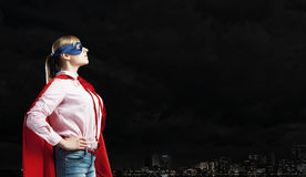 She is super woman Royalty Free Stock Image