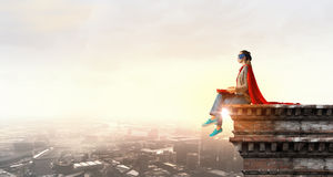 She is super woman Royalty Free Stock Photography