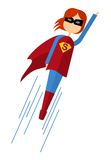 Super_women_fly Photographie stock