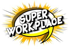 Super Workplace - Comic book style words. royalty free illustration