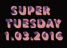 Super Wtorku dzień wyborów w usa Zdjęcie Royalty Free