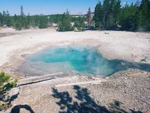 Super wulkanu gorący basen Zdjęcia Royalty Free