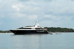 Super Yacht royalty free stock image