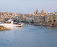 Super yacht. A super yacht berthed in a yacth marina in malta Stock Images