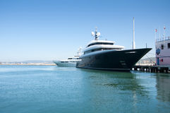 A Super Yacht Berthed in Gibraltar Royalty Free Stock Photo