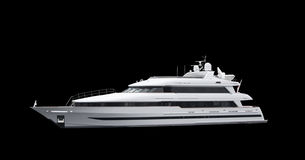 Super Yacht on Black. Business Travel in First Class royalty free stock photography