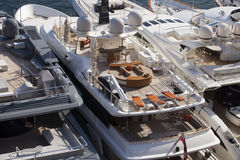 Super yachts in monaco Royalty Free Stock Photography