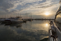 Super Yachts moored at Sukosan Harbor near Zadar, Croatia Stock Photography