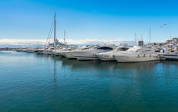 Super Yachts at Puerto Banus Royalty Free Stock Photos