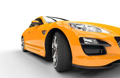 Super Yellow Car - Closeup Shot Royalty Free Stock Photo