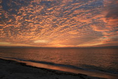 super, zachód słońca obraz stock