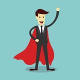 Super zakenman, bedrijfsconcept Stock Afbeeldingen