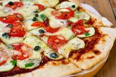 Super zdrowa pizza zdjęcie stock