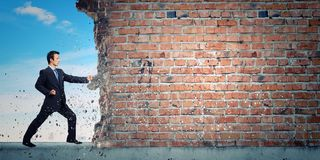 Superación de desafíos fotos de archivo