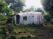 Superadobe's house in Guatemala royalty free stock image