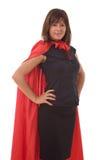 superaffärskvinnahjälte Royaltyfri Foto