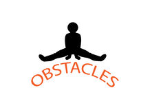 Superando obstáculos ilustração do vetor