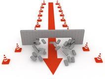 Superando obstáculos Foto de Stock Royalty Free